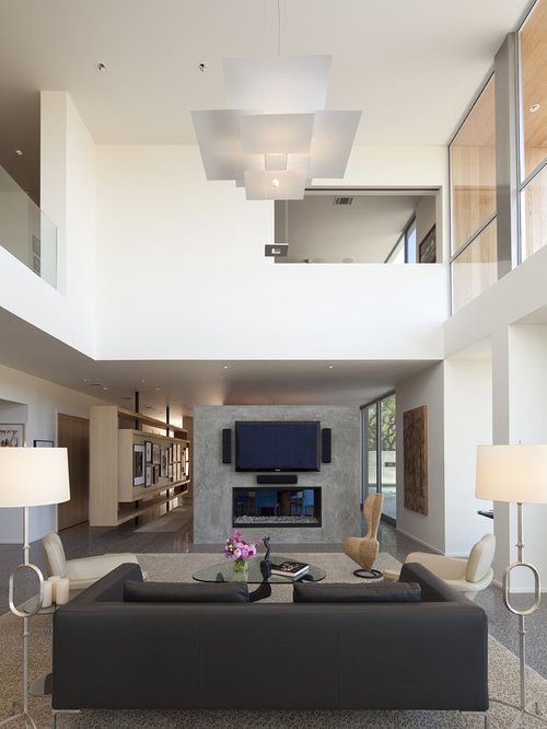 High Ceiling Living Room Houzz