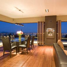 Contemporary Living Room by Gaulhofer Windows