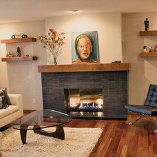 Modern Living Room by Fireside Design Center