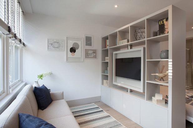 Scandinavian Living Room by Elayne Barre Photography