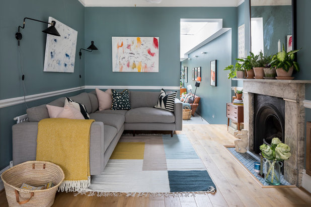 Eclectic Living Room by Canham & Hart