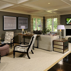 Transitional Living Room by gps designs