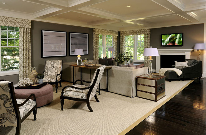 Transitional Living Room by gps designs . architecture