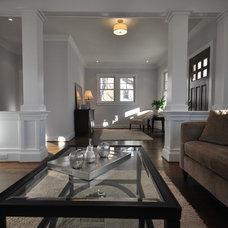 Craftsman Living Room by Ballard + Mensua Architecture