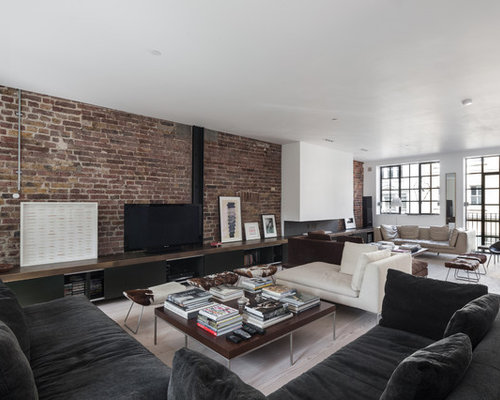 Inspiration For An Expansive Urban Open Plan Living Room In London.