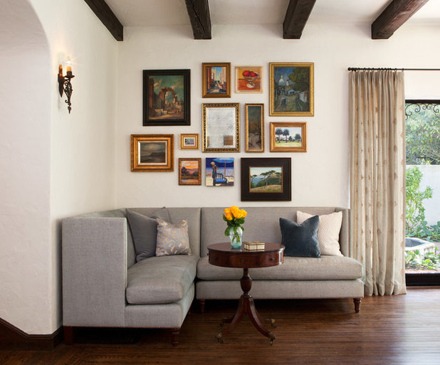 American Traditional Living Room by lisa rubenstein - real rooms design