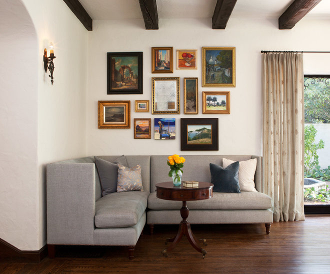 Traditional Living Room by lisa rubenstein - real rooms design
