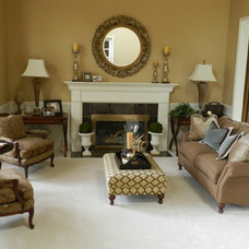 Traditional Living Room by Michelle Yorke Interior Design LLC