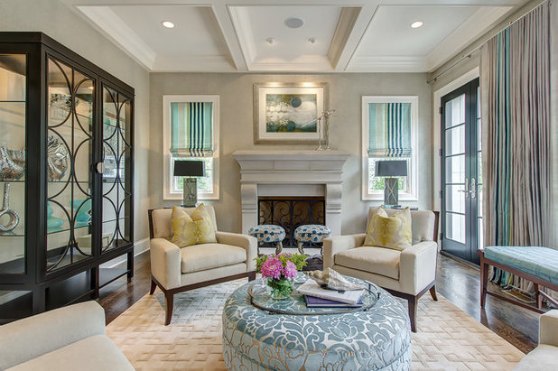 Transitional Living Room by Chroma Home