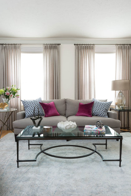 Transitional Living Room by FIG Interiors