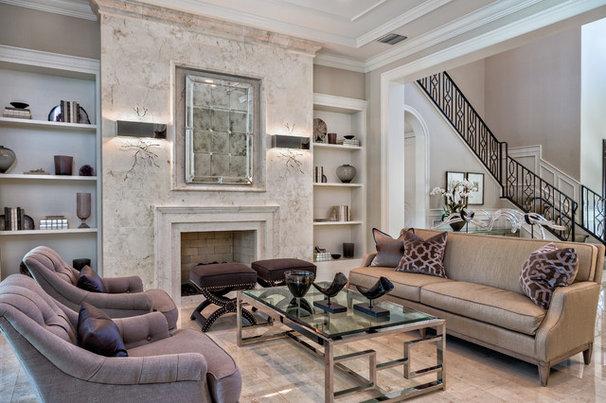 Transitional Living Room by Gervis Design Studio