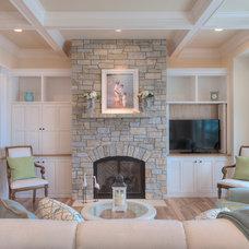 Beach Style Living Room by MAC Custom Homes