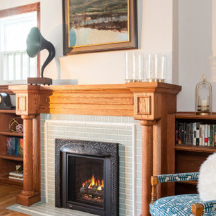 Classic Craftsman Fireplace Tiles