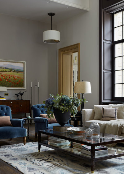 Traditional Living Room by O&A Design