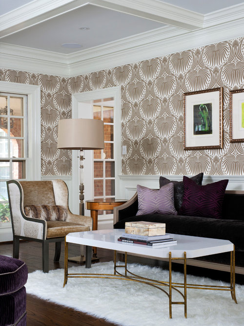 glam living room houzz