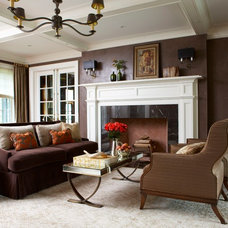 Traditional Living Room by Daniel Contelmo Architects