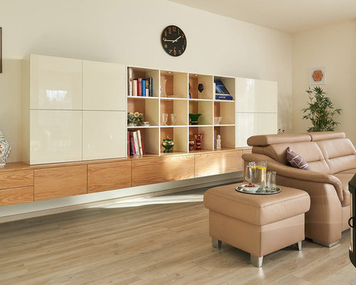 living room design ideas, remodels & photos with a metal fireplace