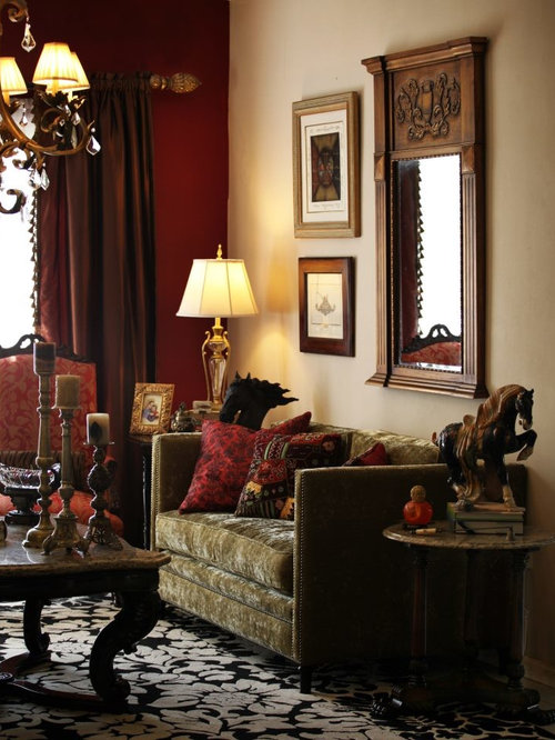 Victorian living room design ideas renovations photos with red walls Victorian living room decorating ideas with pics