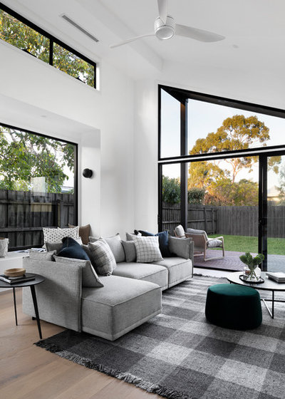 Contemporary Living Room by Kube Constructions