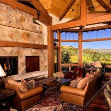 Traditional Living Room by Karen White Interior Design