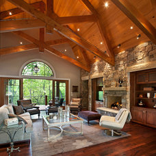 Traditional Living Room by Tyner Construction Co Inc