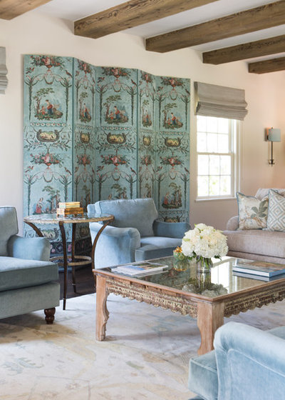 Mediterranean Living Room by Charmean Neithart Interiors