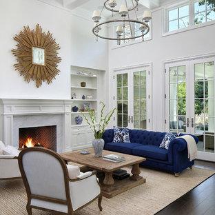 Interior Design Living Room Classic. Example Of A Classic Dark Wood ...