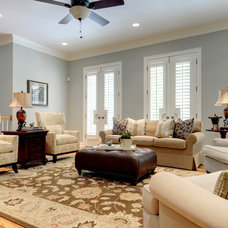 Traditional Living Room by Pat Shankle