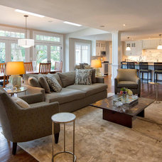 Traditional Living Room by Knight Architects LLC