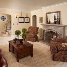 Traditional Living Room by Homeland Design, llc