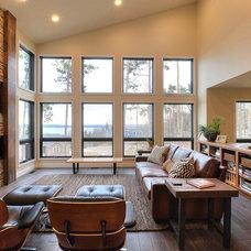 Transitional Living Room by MAC Custom Homes