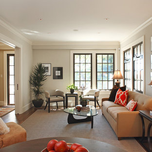 Living room - transitional formal living room idea in San Francisco with no fireplace and no tv