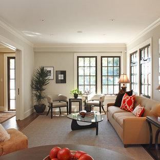 Idee per un soggiorno classico con sala formale, nessun camino e nessuna TV