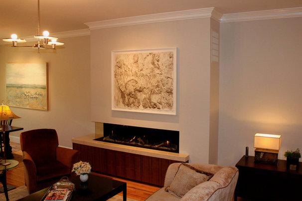 Modern Living Room by Tate + Burns Architects LLC