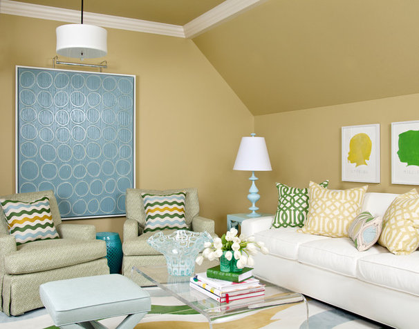 Traditional Living Room by Tobi Fairley Interior Design