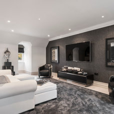 Contemporary Family Room by Alexander James Interiors
