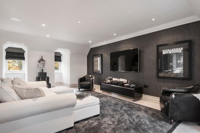Contemporary Family Room by Alexander James Interiors