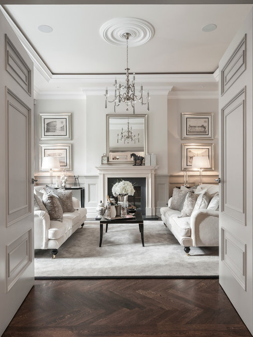Inspiration For A Timeless Enclosed Living Room Remodel In London With Dark Wood Floors
