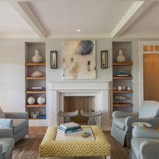 Beach Style Living Room by Jonathan Raith Inc.