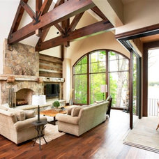 Traditional Living Room by Resort Custom Homes