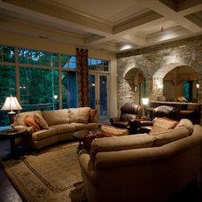 Traditional Living Room by Bergeron Custom Homes, LLC