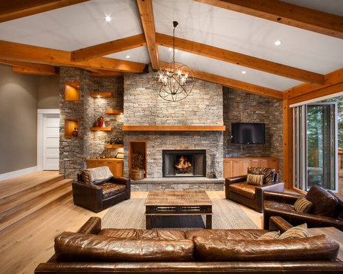 Great Room Fireplace Design Ideas & Remodel Pictures | Houzz