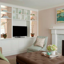 Beach Style Living Room by LeBlanc Design