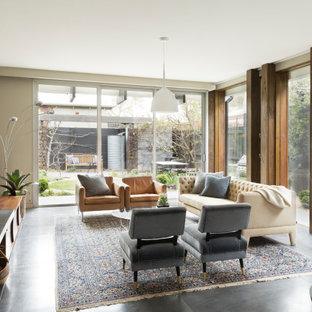 Contemporary living room in Melbourne.