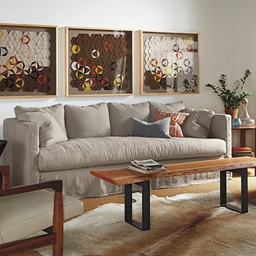 Clive Slipcovered Sofa Room by R&B