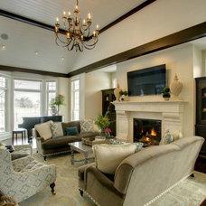 Traditional Living Room by A. Sadowski Designs
