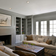 Farmhouse Living Room by Carol Kurth Architecture + Interiors