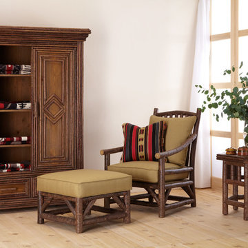 Club Chair #1167, Ottoman #1173, Armoire #2023, Side Table #3438 by La Lune