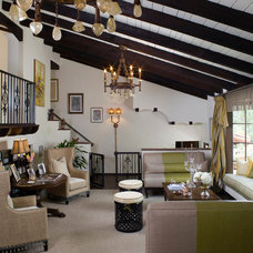 Transitional Living Room by Lori Dennis, Inc.