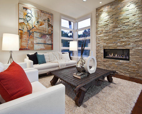 SaveEmail - Best Fireplace Wall Decor Design Ideas & Remodel Pictures Houzz